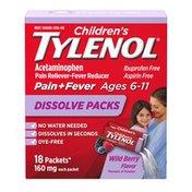 Children's Tylenol Dissolve Packs, Wild Berry