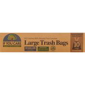 If You Care Trash Bags, Large, with Handles