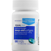Equaline Sleep-Aid, Nighttime, Maximum Strength, Liquid Filled Softgels