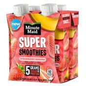 Minute Maid Super Smoothies Strawberry Banana Cartons