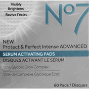 No7 Serum Activating Pads,  Protect & Perfect Intense Advanced