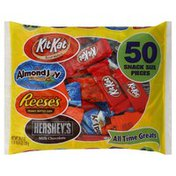 Hershey Candy, Assortment, Snack Size Pieces