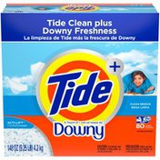 Tide Plus A Touch of Downy Powder Laundry Detergent, Clean Breeze