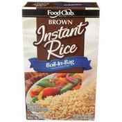 Food Club Boil-In-Bag Pre-Cooked, Parboiled Long Grain Instant Brown Rice