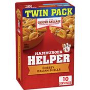 Hamburger Helper Cheesy Italian Shells Twin Pack, 2 Count