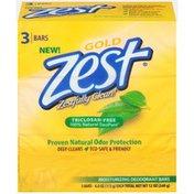 Zest Moisturizing Deodorant Gold Bar Soap