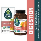 EverRoot Natural, Limited Ingredient, Organic Dog Supplement Chewable Tablet, Digestion