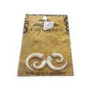 Coco Loco Jewelry White Bone Spiral Earrings