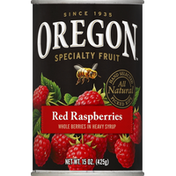 Oregon Red Raspberries, in Heavy Syrup