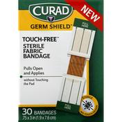 CURAD Bandage, Fabric, Touch-Free, Medium