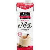 So Delicious Dairy Free Holiday Nog Coconut Beverage