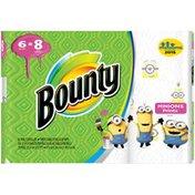 Bounty Paper Towels, Print, 6 Big Rolls = 8 Regular Rolls  Towels/Napkins