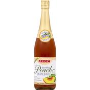 Kedem 100% Juice, Sparkling, Peach Grape Juice