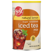 Big Y Natural Lemon Sugar Sweetened Iced Tea Mix