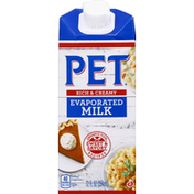 Pet Evaporated Milk, Rich & Creamy