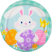 Party Creations Plates, Funny Bunny, 8-3/4 Inch