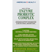 American Health Enzyme Probiotic Complex, Dual-Action, Vegetarian Capsules