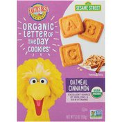 Earth's Best Sesame Street Oatmeal Cinnamon Organic Letter of the Day Cookies