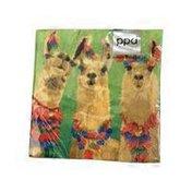 Paperproducts Design Llama Amigos Beverage Napkin