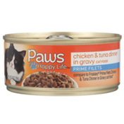 Paws Happy Life Chicken & Tuna Dinner In Gravy Prime Filets Cat Food