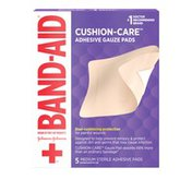 Band-Aid Brand Of First Aid Products Cushion Care Adhesive Gauze Pad