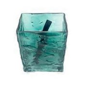 Small Hammered Glass Vase