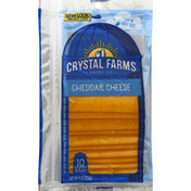 Crystal Farms Cheese Slices, Cheddar