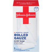 """Red Cross® Johnson & Johnson 3"""" X 2.5 Yds. Posted 10/21/2013 First Aid Covers Kling® Rolled Gauze"""