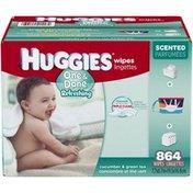 Huggies One & Done Refreshing Cucumber & Green Tea Baby Wipes