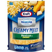 Kraft Shredded Mexican Style Four Cheese Blend with a Touch of Philadelphia
