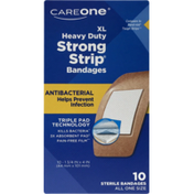CareOne XL Heavy Duty Strong Strip Antibacterial Bandages