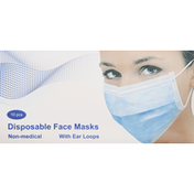 Pinnacle Brands Face Masks, Disposable, 3 Layers