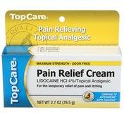 TopCare Maximum Strength Pain Relief Lidocaine Hcl 4% Topical Analgesic Cream