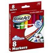 Rose Art Markers, Washable, Broadline, Bold Colors