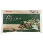 Hy-Vee Freshly Frozen Asian Vegetables With Green Beans, Broccoli, Onions & Mushrooms