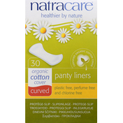 Natracare Panty Liners, Organic, Curved