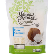 Nature's Promise Flake Coconut, Organic, Unsweetened, Pouch
