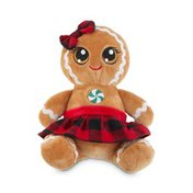 """6"""" Assorted Holiday Gingerbread Girl or Boy Plush"""