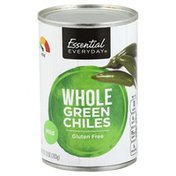 Essential Everyday Green Chiles, Whole, Mild