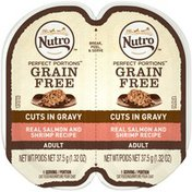 NUTRO Perfect Portions Real Salmon and Shrimp Recipe Cuts in Gravy Adult Cat Food