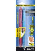 Pilot Pens, Erasable, Fine (0.7 mm), Assorted Gel Inks