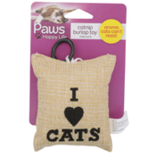 Paws Happy Life Catnip Burlap Toy For Cats