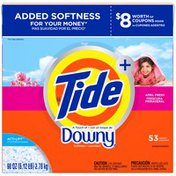 Tide Ultra Plus a Touch of Downy April Fresh Scent Powder Laundry Detergent 53 Loads 98 Oz  Laundry