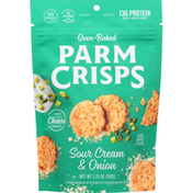 ParmCrisps Cheese Snack, Sour Cream & Onion, Oven-Baked