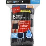 Hanes Boxer Briefs, Tagless, Medium, Value Pack