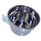 Lixit 10-Ounce Stainless Steel Cage Crock Bowl With Bracket