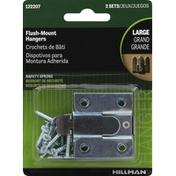 Hillman Group Flush-Mount Hangers, Safety Spring, Large