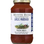 Monte Bene Pasta Sauce, Garlic Marinara