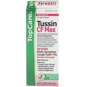 TopCare Maximum Strength Tussin Cf Max Severe Non-drowsy Multi-symptom Cough Cold + Flu Pain Reliever/fever Reducer, Cough Suppressant, Expectorant, Nasal Decongestant Liquid
