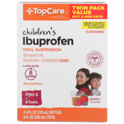 TopCare Children'S Ibuprofen 100 Mg Per 5 Ml Pain Reliever/Fever Reducer (Nsaid) Oral Suspension, Berry